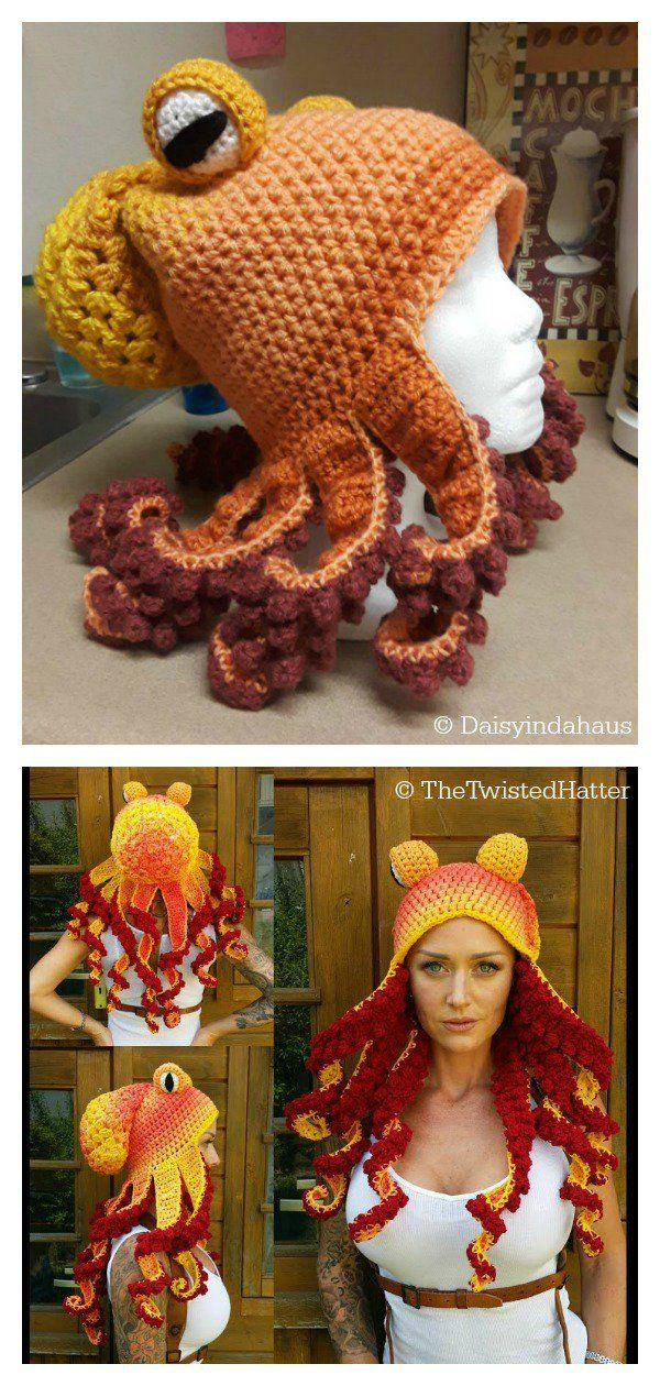 Octopus Hat Free Crochet Pattern and Paid