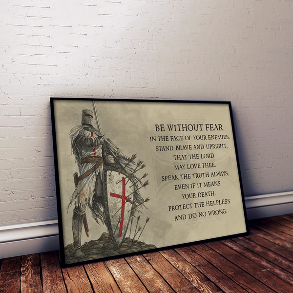 KT002 - Be Without Fear - English - Knight Templar Poster