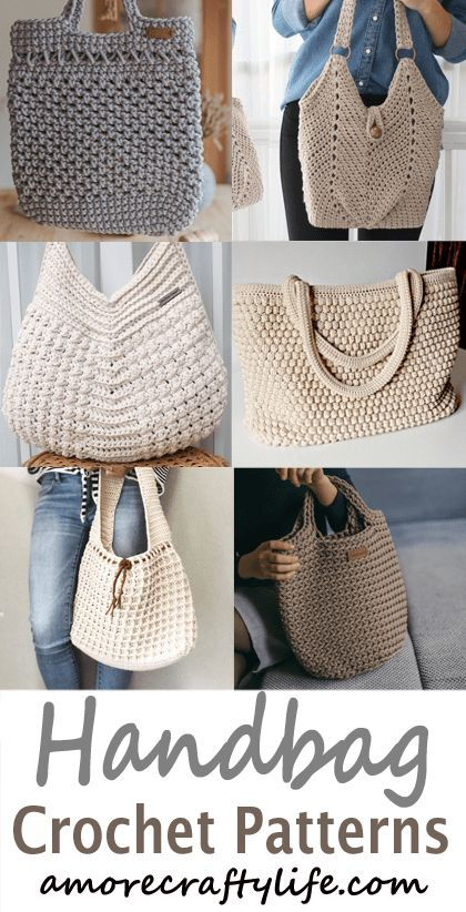 bag crochet patterns - handbag crochet pattern- purse tote- crochet pattern pdf