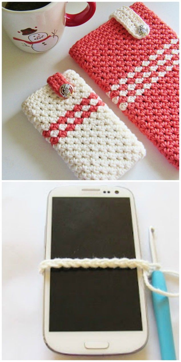 How to Crochet Cell Phone Pocket Video Instructions - Fashionable Bags