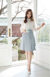 Ruffle A-line Skirt   - Lee Seo Ah - #ALine #Lee #Ruffle #Seo #Skirt