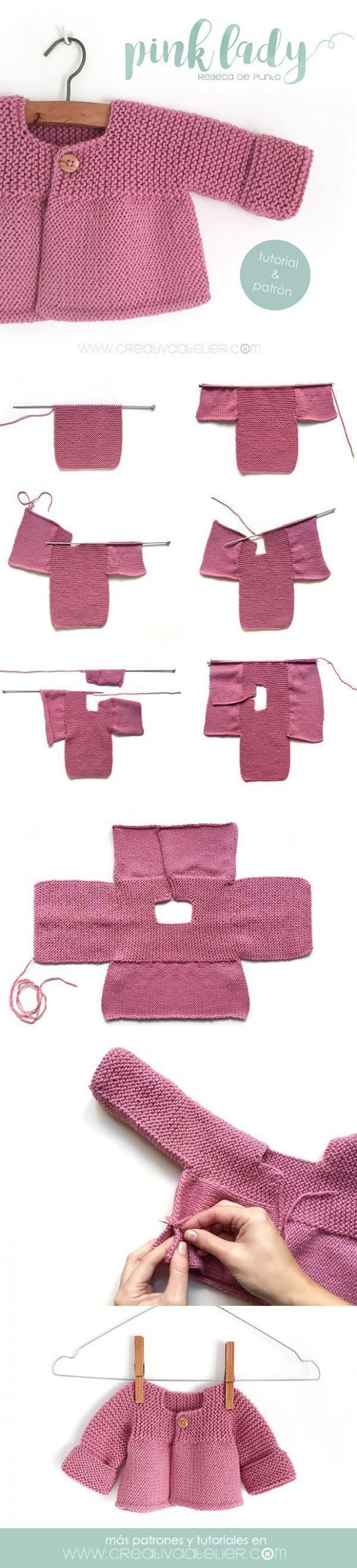 Learn to Knit an adorable Knit Cardigan with this step-by-step Tutorial with ...