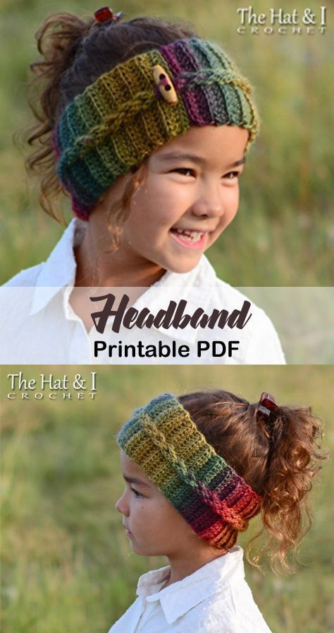 Make a cozy headband. Headband Crochet Pattern - Earhook Crochet Pattern pdf