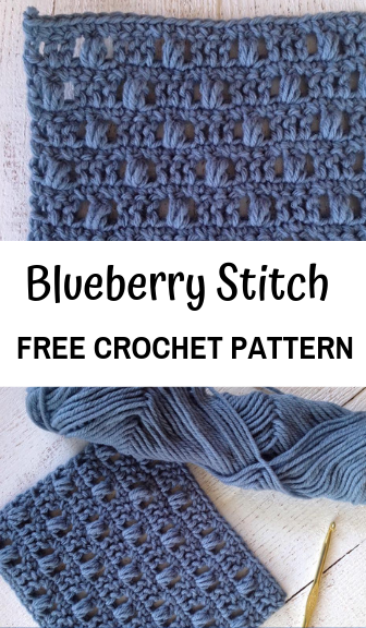 how to crochet the blueberry stitch—free crochet pattern