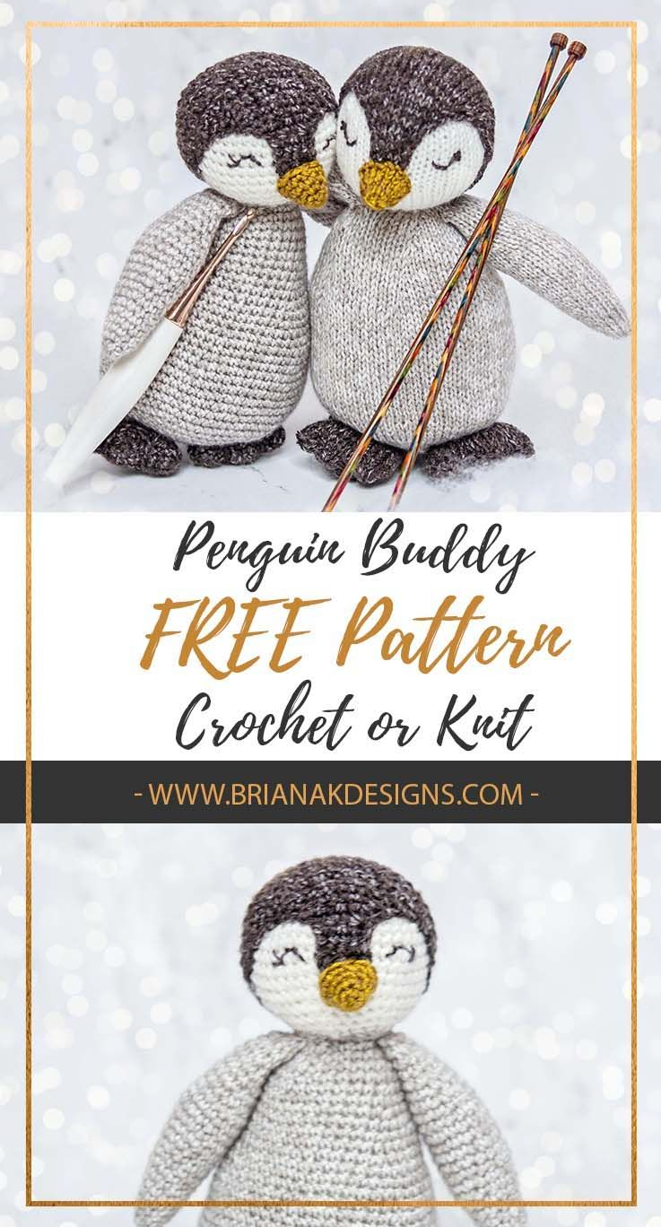 Free Penguin Crochet or Knit Pattern