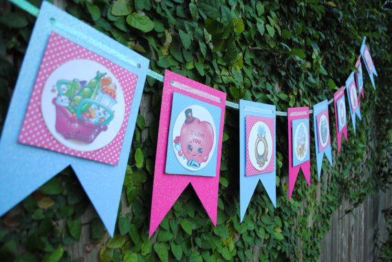 Shopkins Banner, Shopkins, Shopkins Room Decor, Shopkins Playroom Decor, Shopkin...