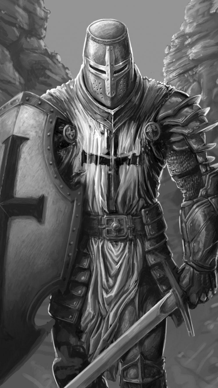 Download 750x1334 wallpaper The Knight, fantasy, warrior, art, iphone 7, iPhone ...
