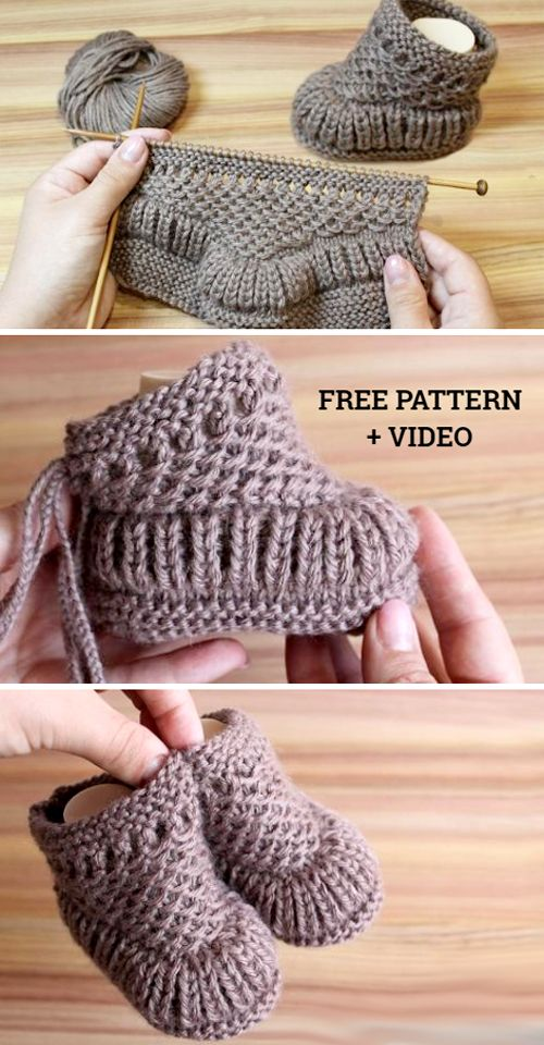 Warm Baby Booties - Free Pattern & Tutorial (Beautiful Skills - Crochet Knitting Quilting)