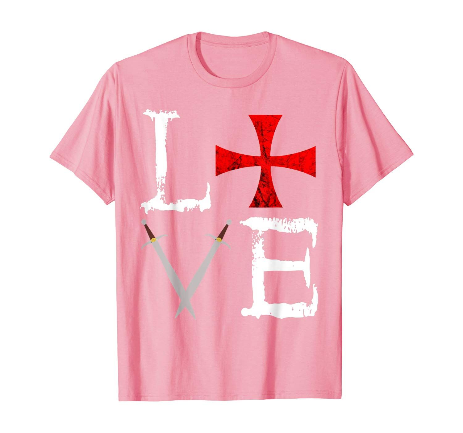 Crusader Love Templar Knights Cross Medieval Warrior Soldier T-Shirt