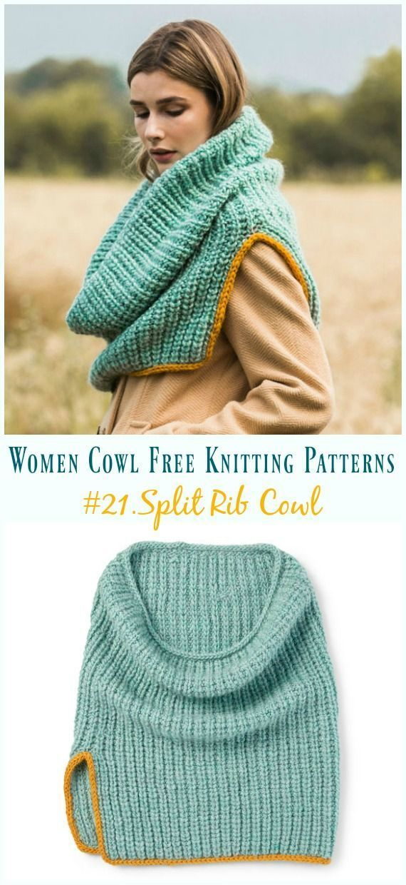 Split Rib Cowl Knitting Free Pattern - Women Cowl [21] - #Cowl #Free #knitting #...