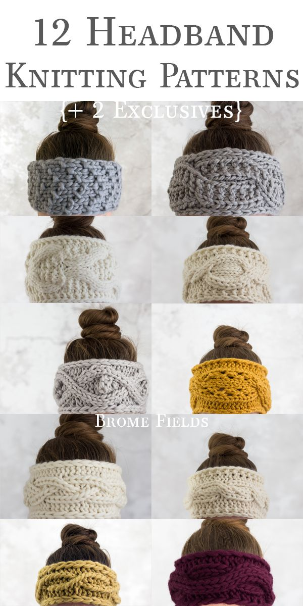 The 12 Days of Thankfulness Headband Knitting Patterns {Plus 2 exclusive headban...