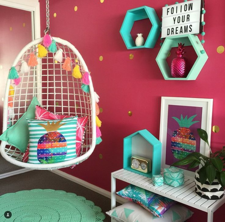 Girls room decor and design ideas, 27 + colorful picture that inspires you