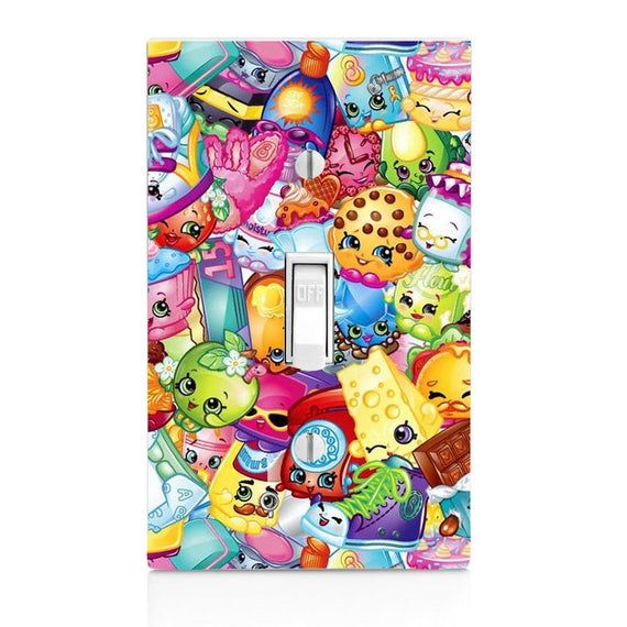 Shopkins Light Switch Cover, Home Decor, Housewarming, Lighting, Wall Decor, Home Decor, Bedroom Dec