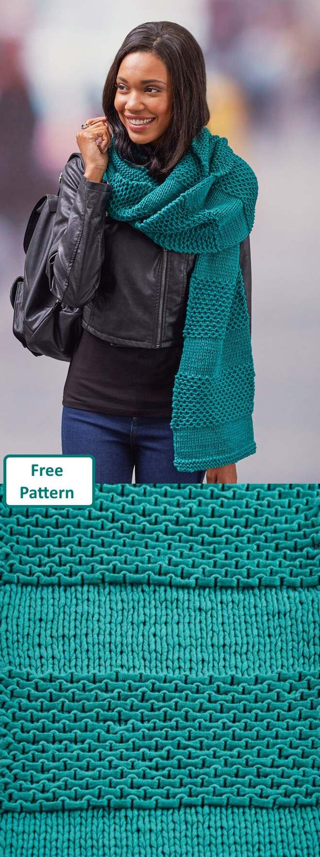 Free Scarf Knitting Patterns pdf textured scarf