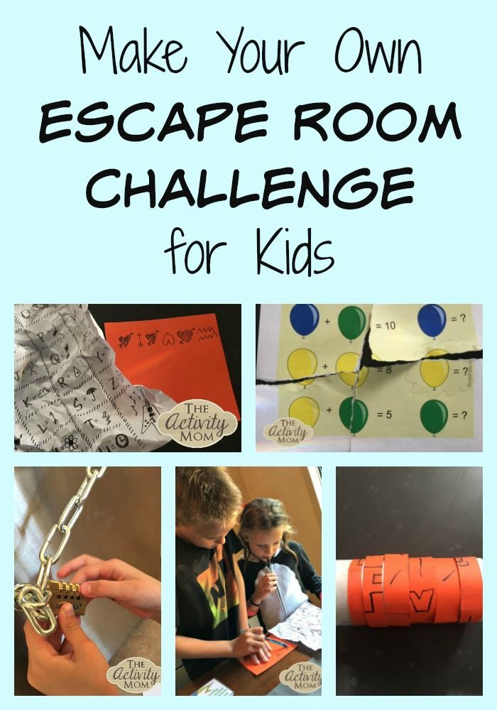 Make Your Own Escape Room Challenge for Kids - #activities #Challenge #Escape #K...