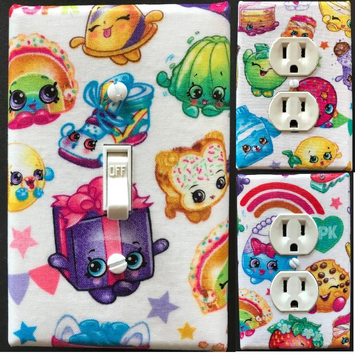 Shopkins Light Switch wall plate covers nursery kids room bedroom bathroom decor