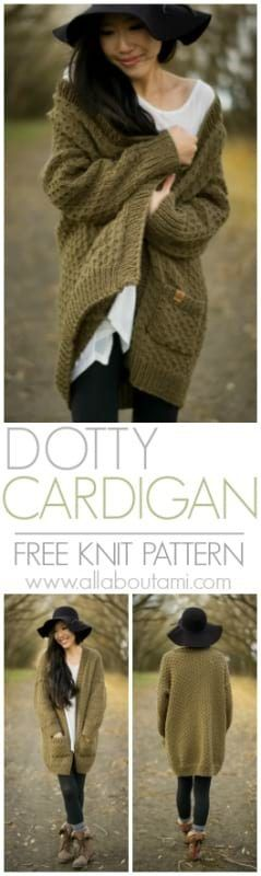 Pattern: The Dotty Cardigan - All About Ami