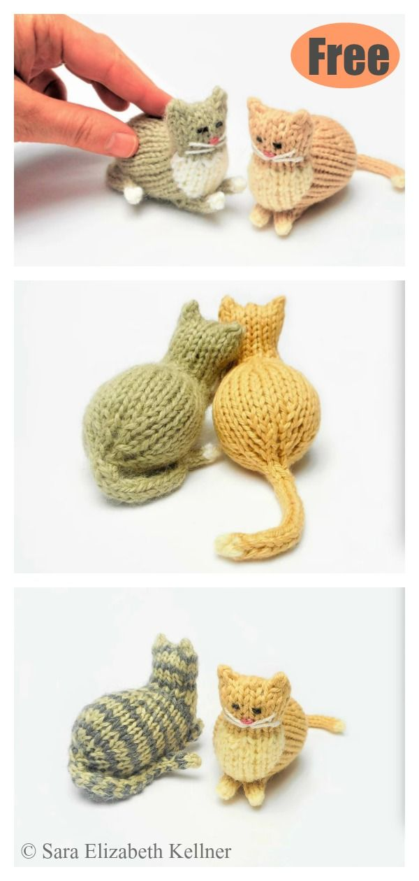 Tiny Parlor Cat Free Knitting Pattern