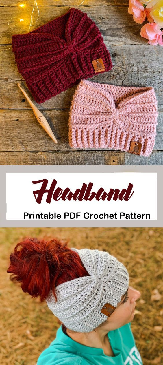 Make a cozy ear warmer. headband crochet pattern- ear warmer crochet pattern pdf...
