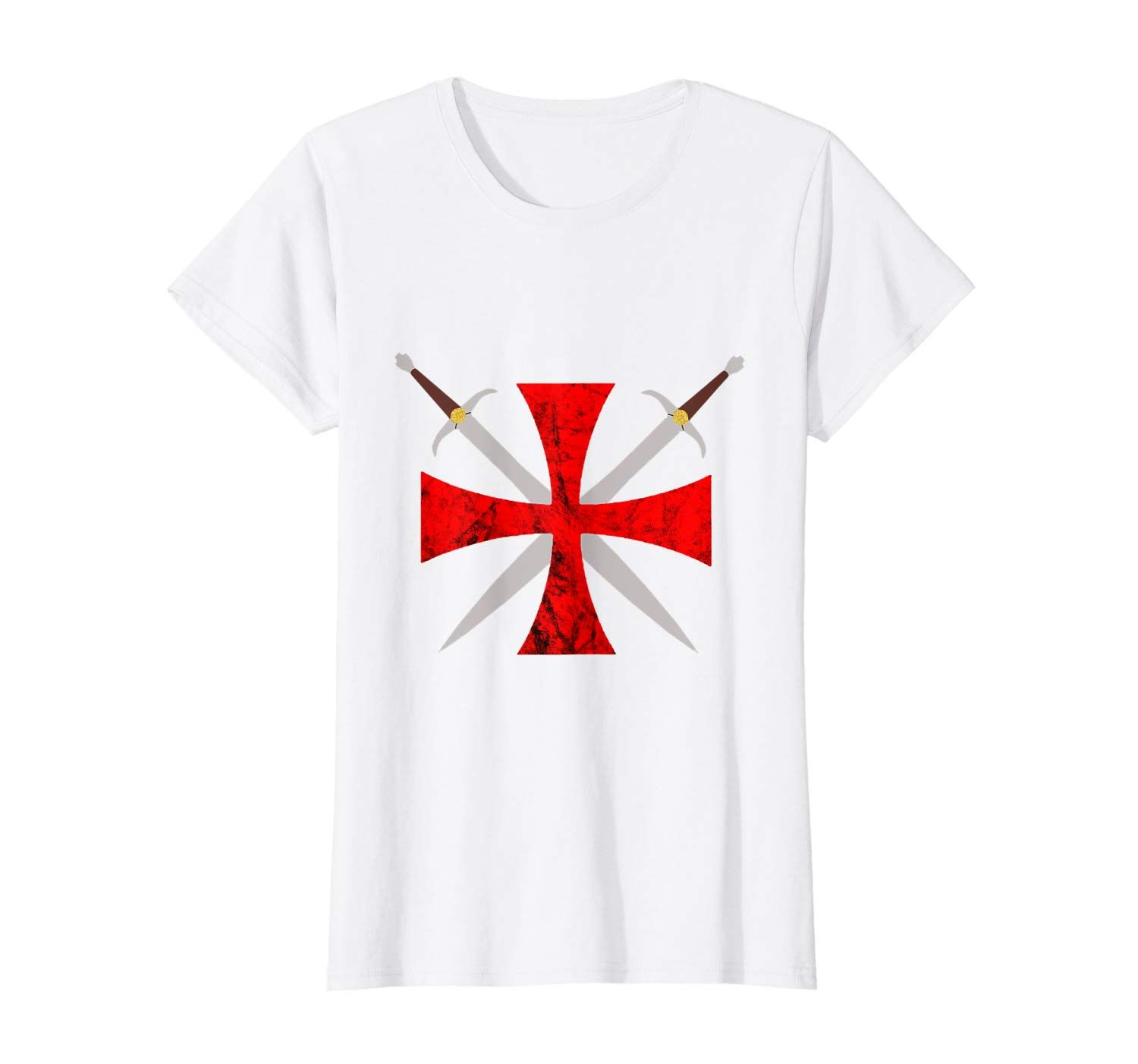 Crusader Knights Templar Code Cross Symbol Warrior Of Christ T-Shirt