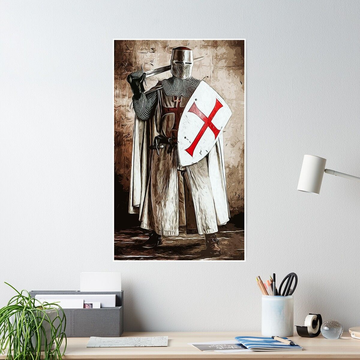 Ancient Templar Knight Poster