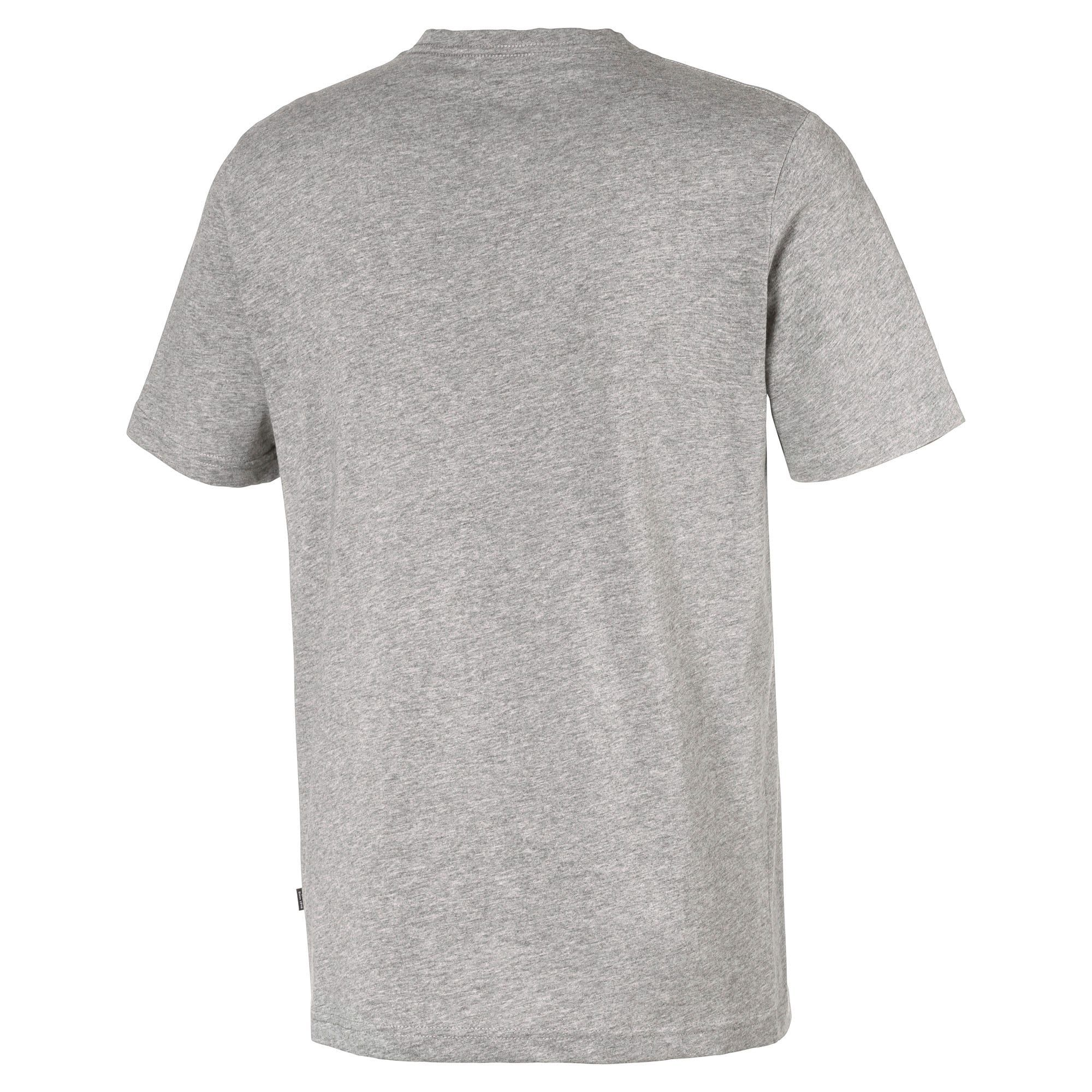 PUMA Essentials V-Neck Men's T-Shirt in Medium Grey Heather size X Large