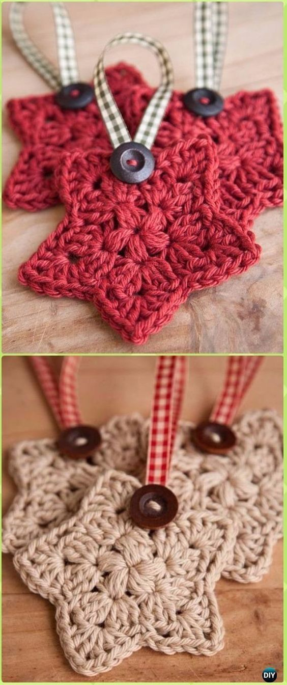 Crochet Star Ornament Free Pattern - Crochet Christmas - #forchris ...