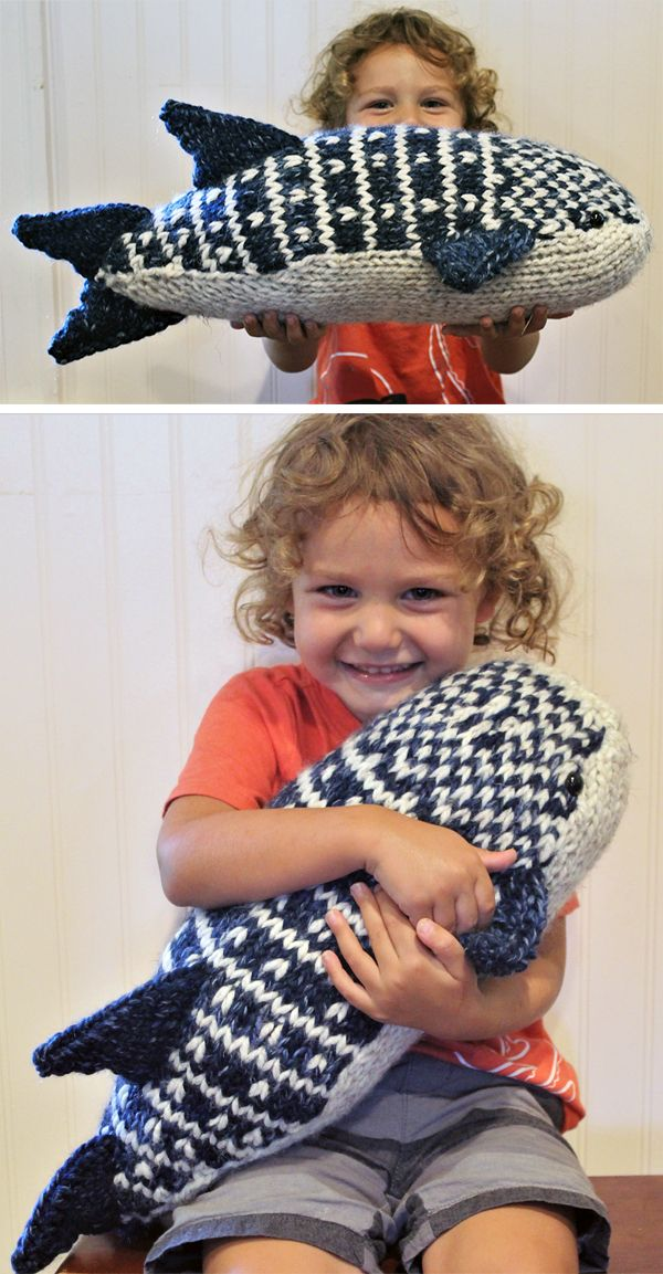 Free until August 5, 2019 Knitting Pattern for Whale Shark Toy