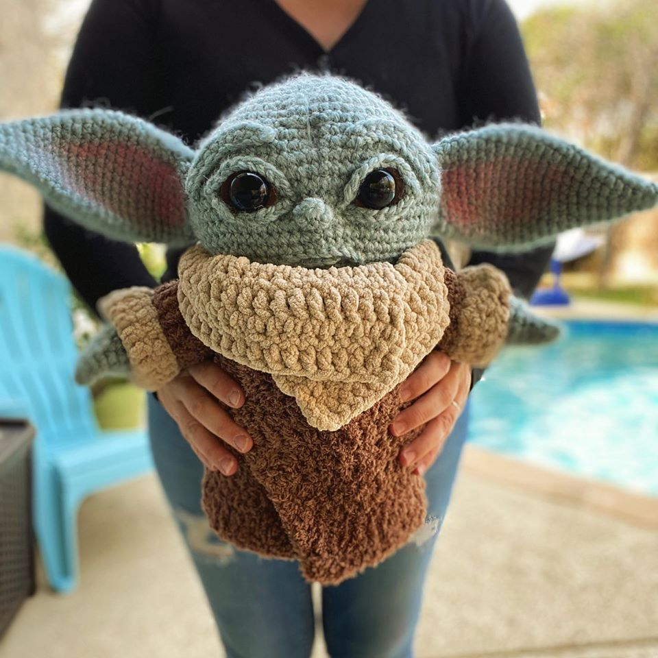 Crochet a Life-Size Baby Yoda Amigurumi, Designed By Crafty Is Cool!