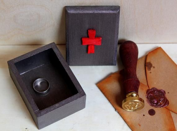 Templar knight box Templar ring box Templar cross Мedieval decor Gift for him Gifts for the couple T