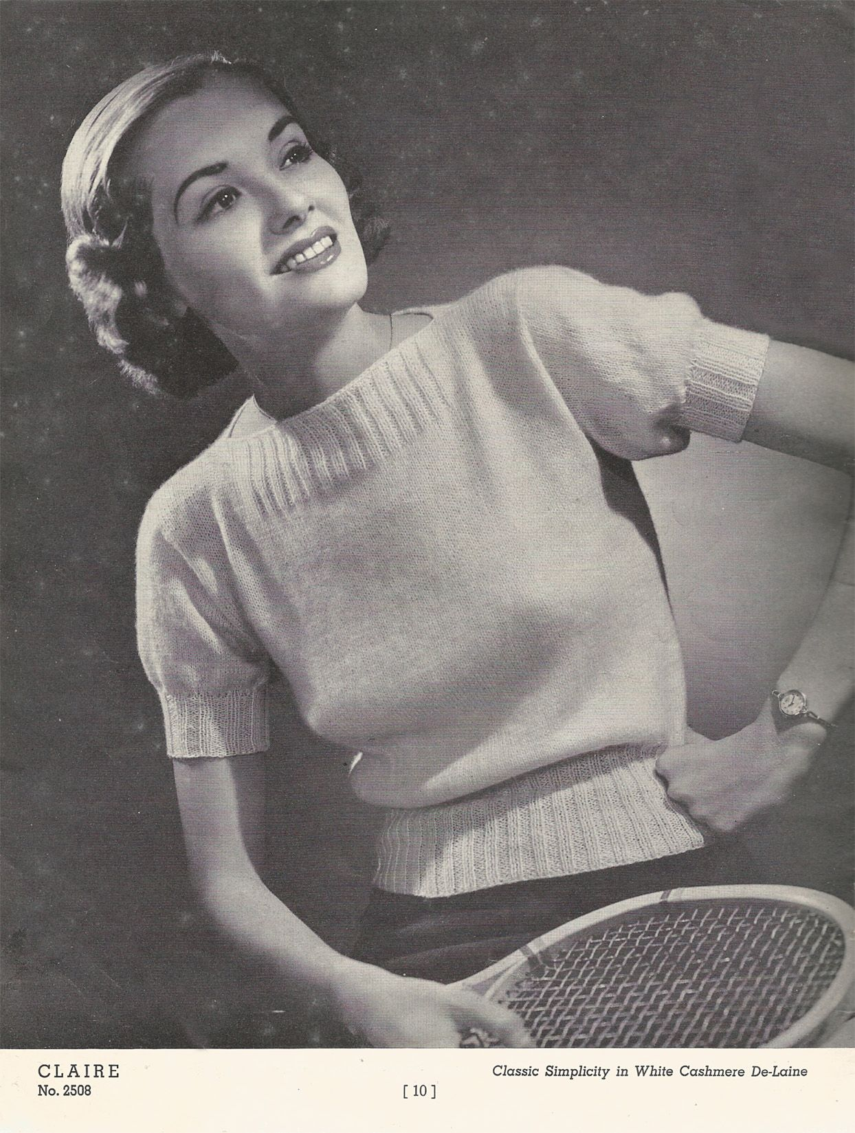 Free Vintage Knitting Pattern: 1930's Cashmere Blouse   Renée And The Cat's Meo...