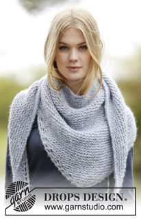 "Loving Embrace - Kraus right knitted DROPS cloth in ""Air"". - Free opps ..."