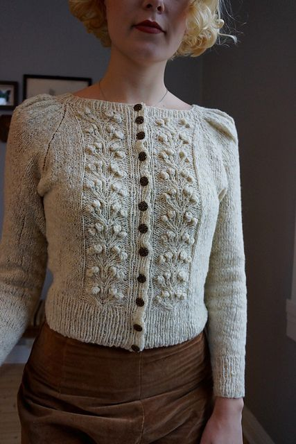 Forest Berry Jacket pattern by Fabel Knitwear