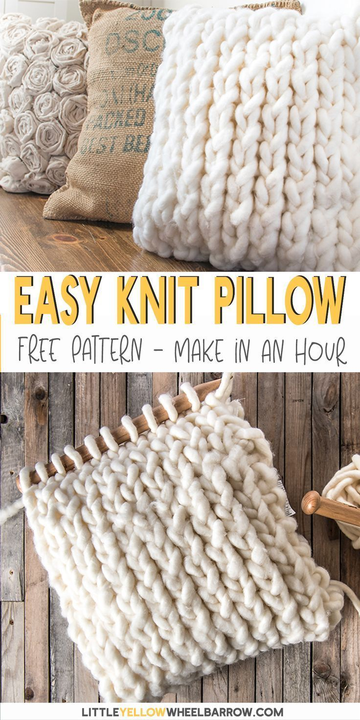 How to make a Chunky Knit Pillow Cover in less than an hour