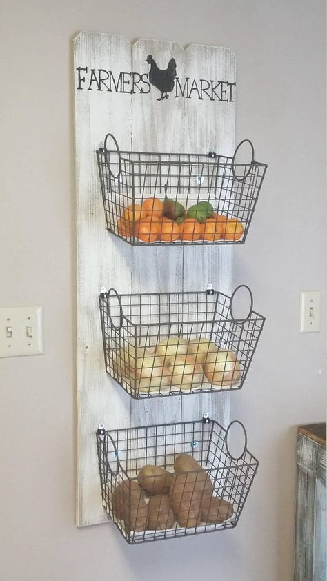 Farmers Market Basket Wall Decor Produce Farmer's Market - Home Decoration