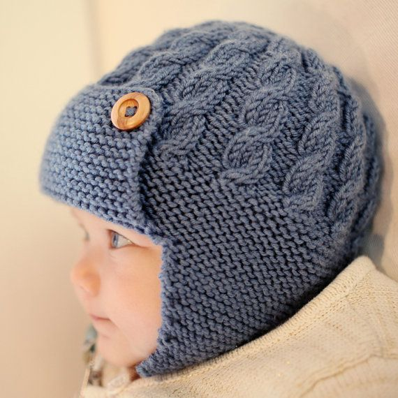 Baby Aviator Hat Knitting Pattern, Boys Hat Pattern - DAYTON