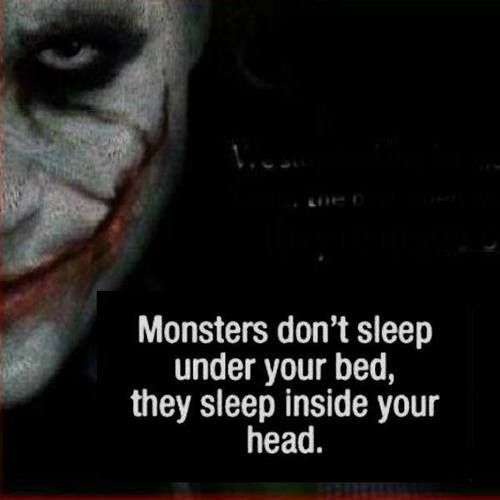 And sometimes, they take over and you become that monster-JLV