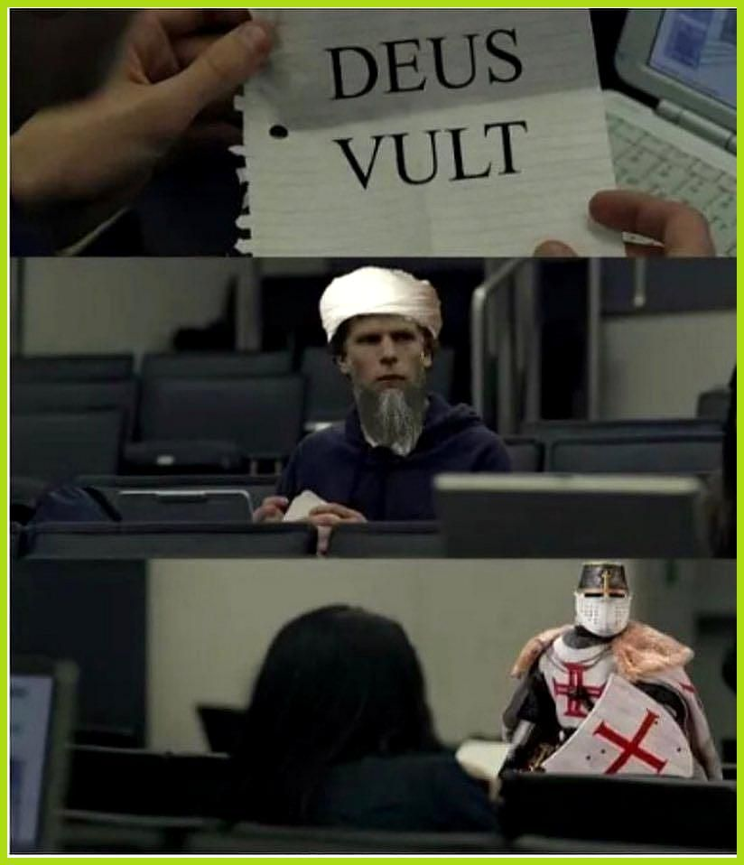 That  s me at work  crusader crusadermemes deus deusvult knight templar warrior ...