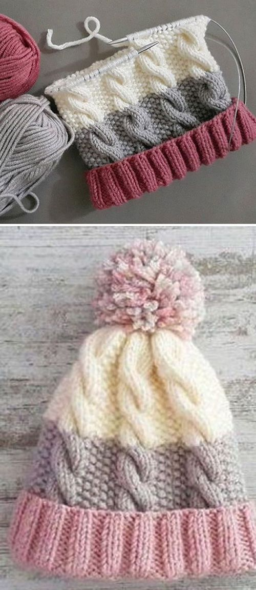 Cozy Cable Knit Hat - Free Pattern -