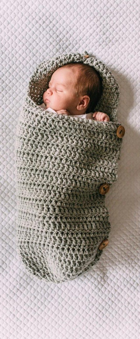 20+ Cute Crochet Baby Cocoon Patterns With Your Baby Too Sweet - Page 20 of 26