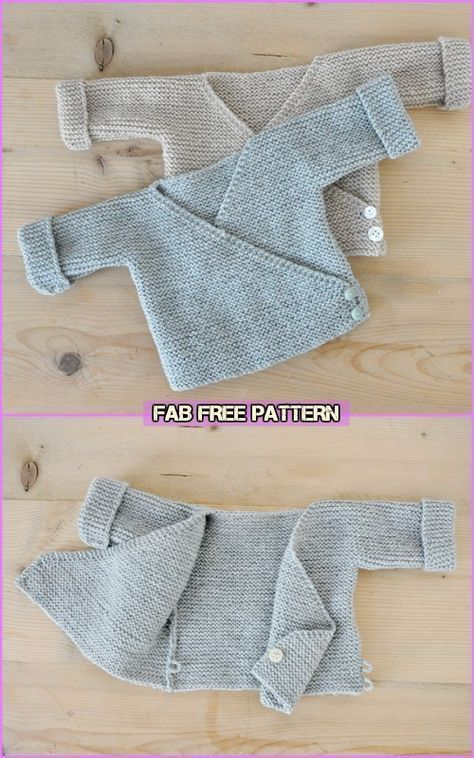 Einfach stricken Baby Kimono Cardigan Free Patterns - Baby Cardigan Free Knitting Patte