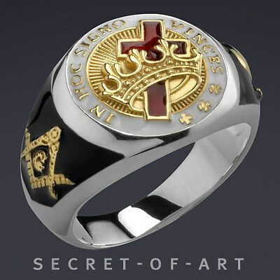 Knights Templar. Knights Templar Masonic Ring Very fine Knights Templar Masonic ...