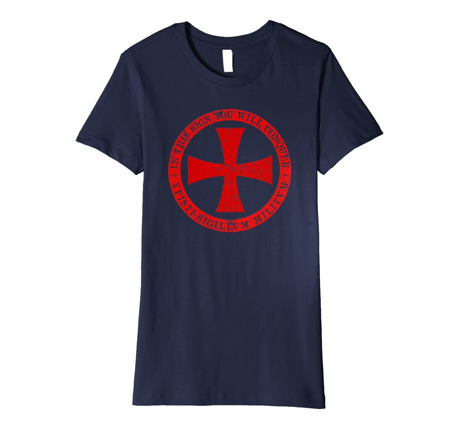 Templar Knight T Shirt - Maltese Cross Shield Logo Tee