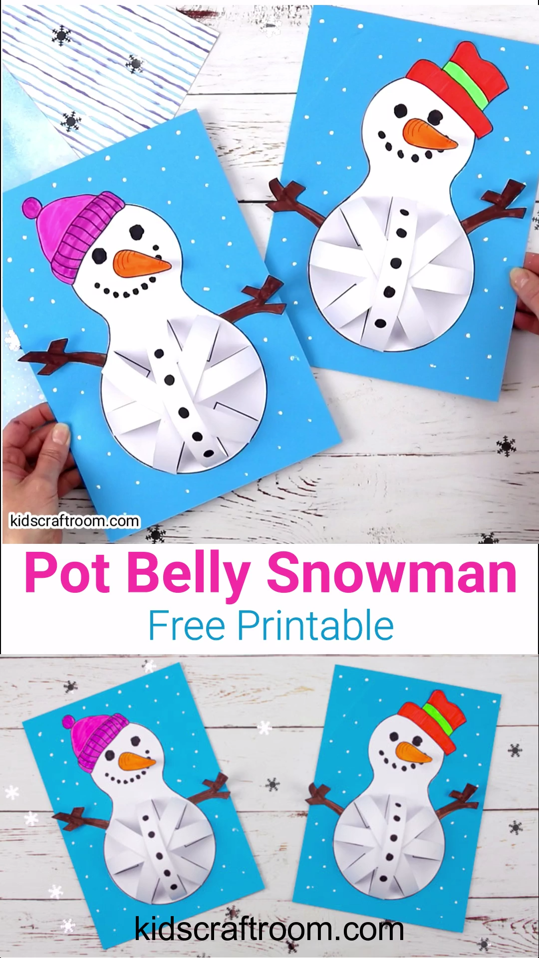Pot Belly Snowman Craft