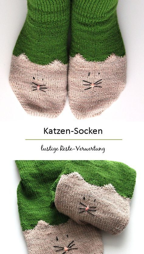 Remnants recovery times different :) free pattern: YinYan Kitty Ankle Socks || ravelry ...