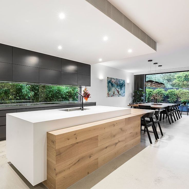 Stunning kitchen and dining area, leading straight... - #area #backsplash #Dinin...