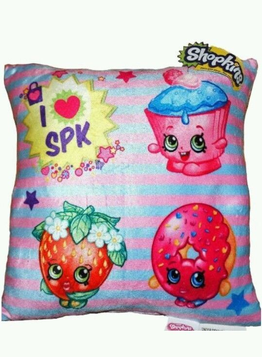 Details about New Shopkins Shopkin Soft Plush Bedroom Cute Decoration Throw Pillow Toy Girls