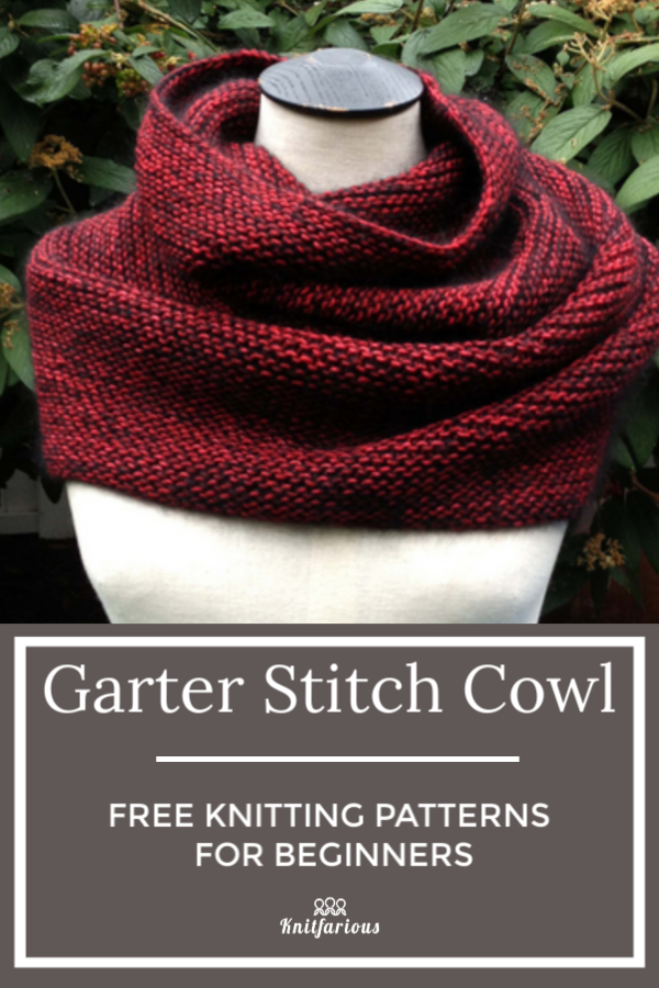 Garter Stitch Cowl: Free Knitting Patterns for Beginners