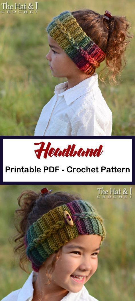 Make a colorful cozy headband. headband crochet pattern- ear warmer crochet patt...