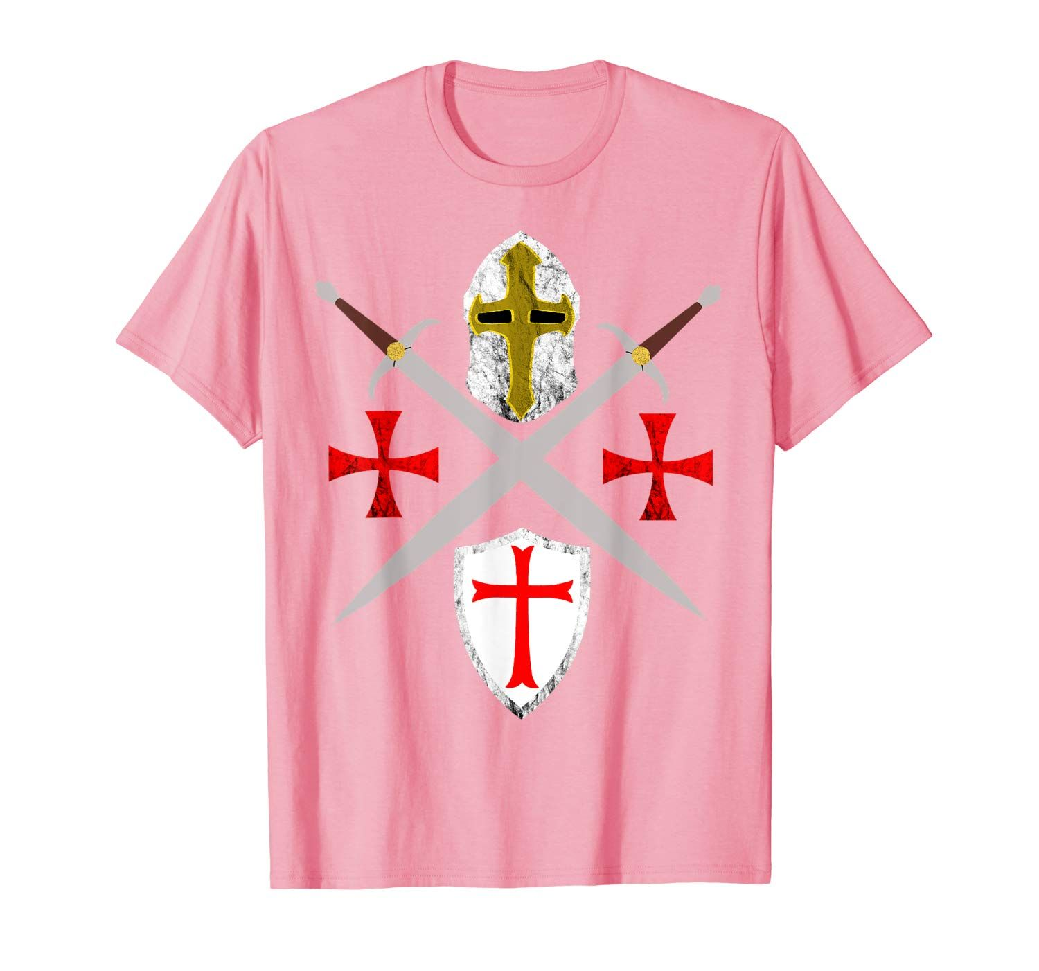 Crusader Knights Templar Code Soldier Of Christ Defending T-Shirt